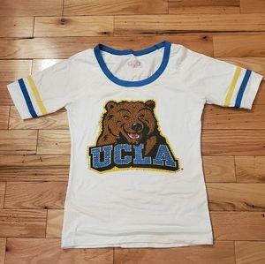 E5 UCLA Bear 🐻 Rhine and Shine Football Tee